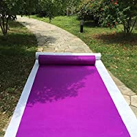 HUAHOO Aisle Runners Wedding Accessories Purple Aisle Runner Carpet Rugs For Step and Repeat display, Ceremony Parties and Events Indoor or Outdoor Decoration 40 Inch wide x 30 feet long
