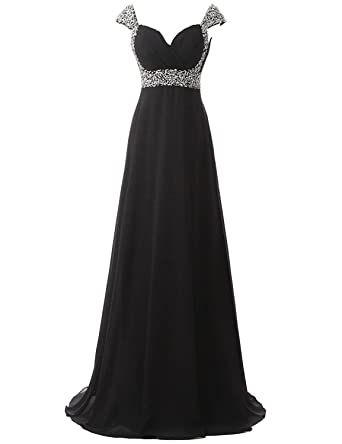 Belle House Women Long Prom Dresses 2018 with Straps A Line Formal Evening Gown Black Bridesmaid
