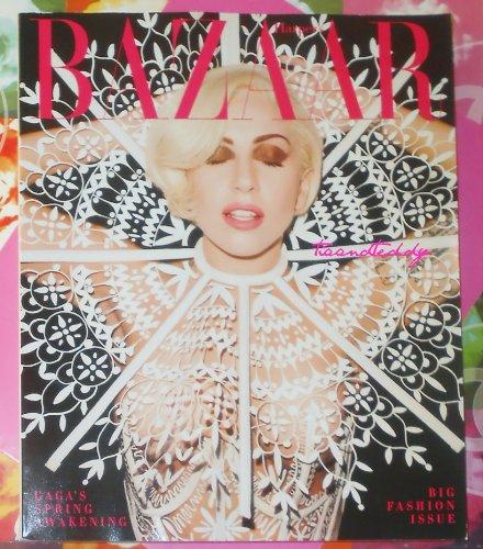 Harper's Bazaar Magazine March 2014 Lady Gaga Cover, Big Fashion - Magazine Bazaar Covers