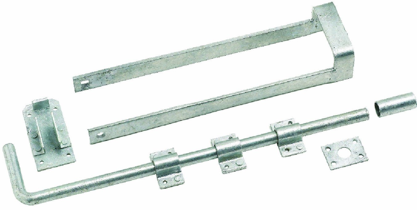 Eliza Tinsley Galvanised Double Gate Fastener Set 4102802