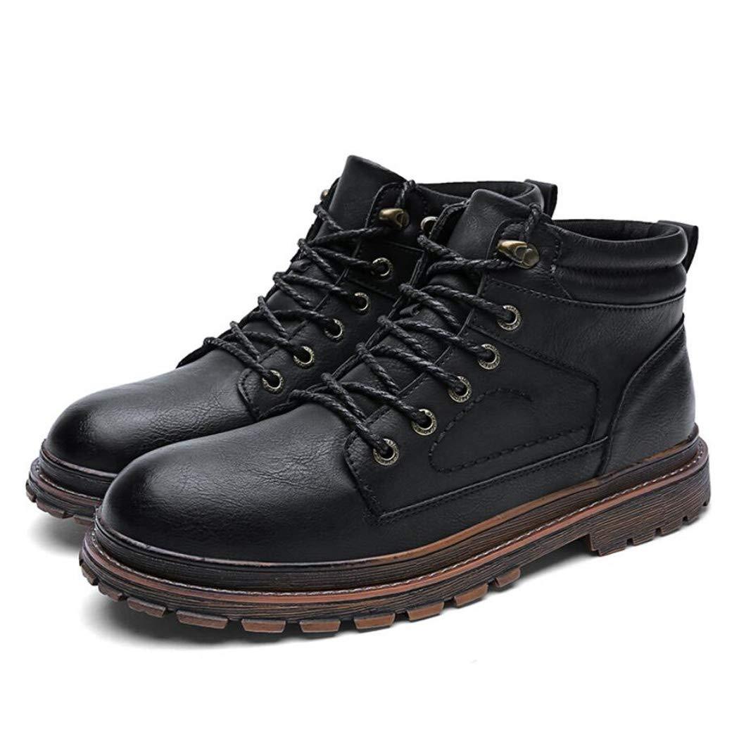 Zxcvb Herbst Und Winter Martin Stiefel Herren Britische Outdoor Werkzeugschuhe Herren Hohe Schuhe Super Fiber Leder Herrenschuhe