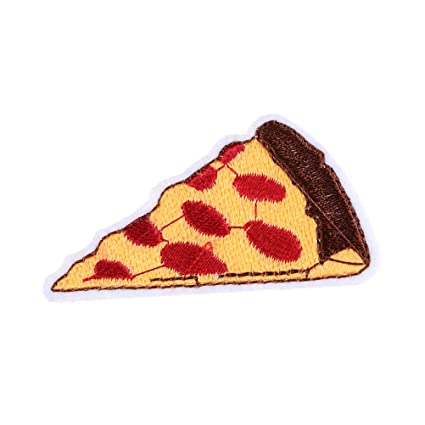 3 piezas Bordado Pizza Applique Parches para planchar ...