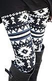 NORAME Women Boho Floral Leggings Spring Autumn Snowflake Stocking Pants