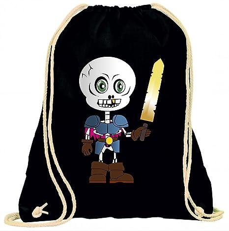 Lo scheletro di stampa in bianco e nero vestito di scheletri il