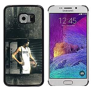 Dallas 41 Baloncesto - Metal de aluminio y de plástico duro Caja del teléfono - Negro - Samsung Galaxy S6 EDGE (NOT S6)