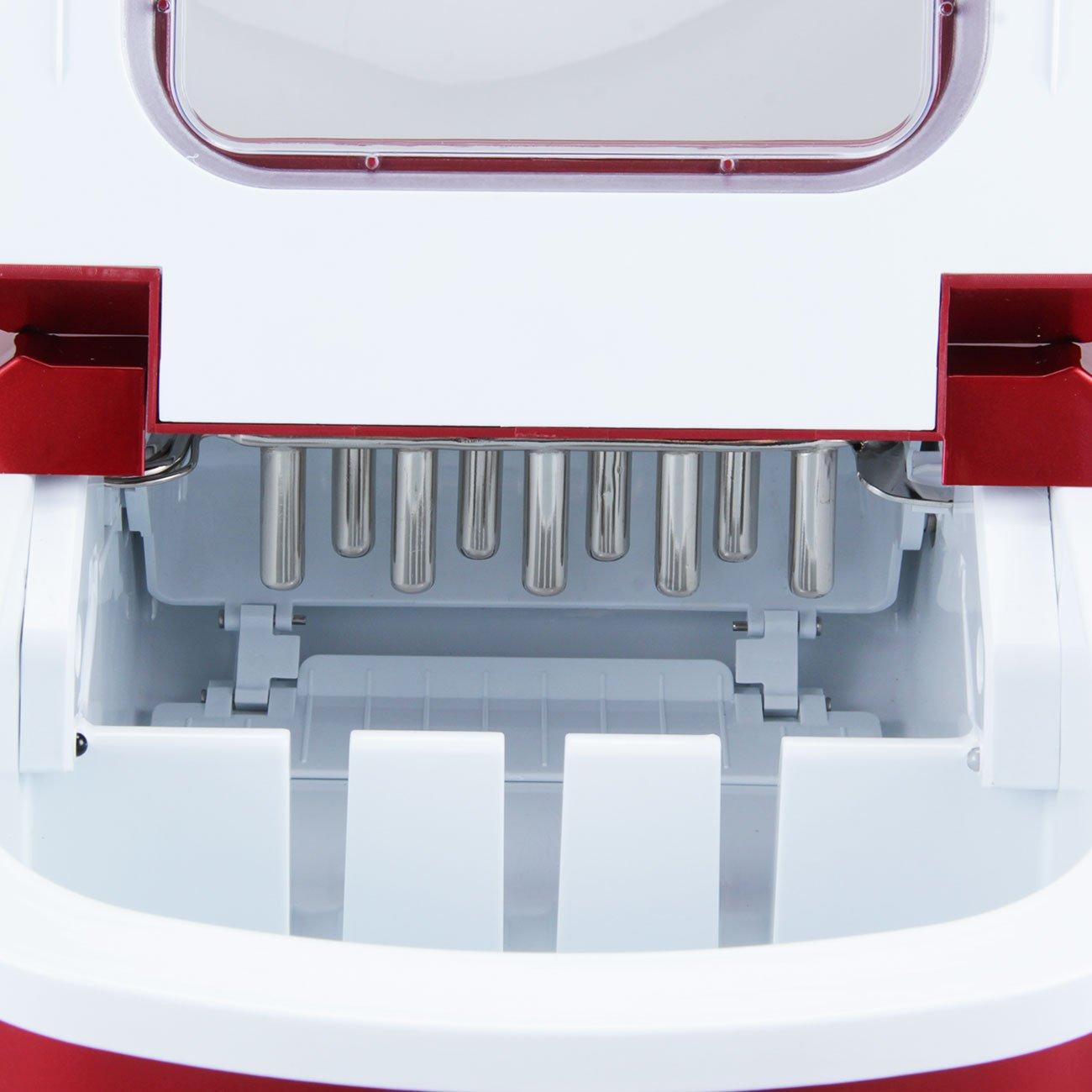 Della Portable Electric Ice Maker Machine Producing 26 Lbs. Of Ice Per Day- Red by DELLA (Image #6)
