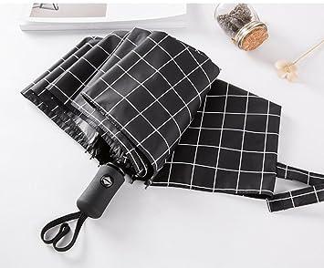 Paraguas Super-automática plegable de hombres y mujeres de negocios resistente al viento paraguas lluvia