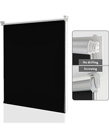 ccc6177d80c HOMEDEMO Store Enrouleur occultant sans percage 90 x 170 cm Rideau  occultant pour Fenêtres et Portes
