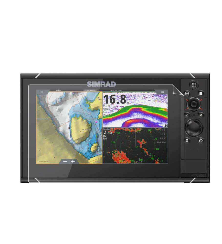 SIMRAD NSS7 Evo3 7 FishFinder Invisible Film Screen Protector Guard Cover Free Lifetime Replacement Warranty Bubble -Free SC GLARE By IPG Compatible with ANTI