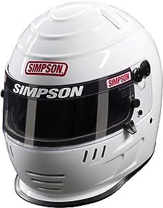 SIMPSON 6707382 Speedway Shark Helmet 2015 7 3/8 Black