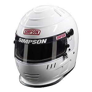 Simpson 6707582 Speedway Shark Helmet 2015 7 5/8 Black