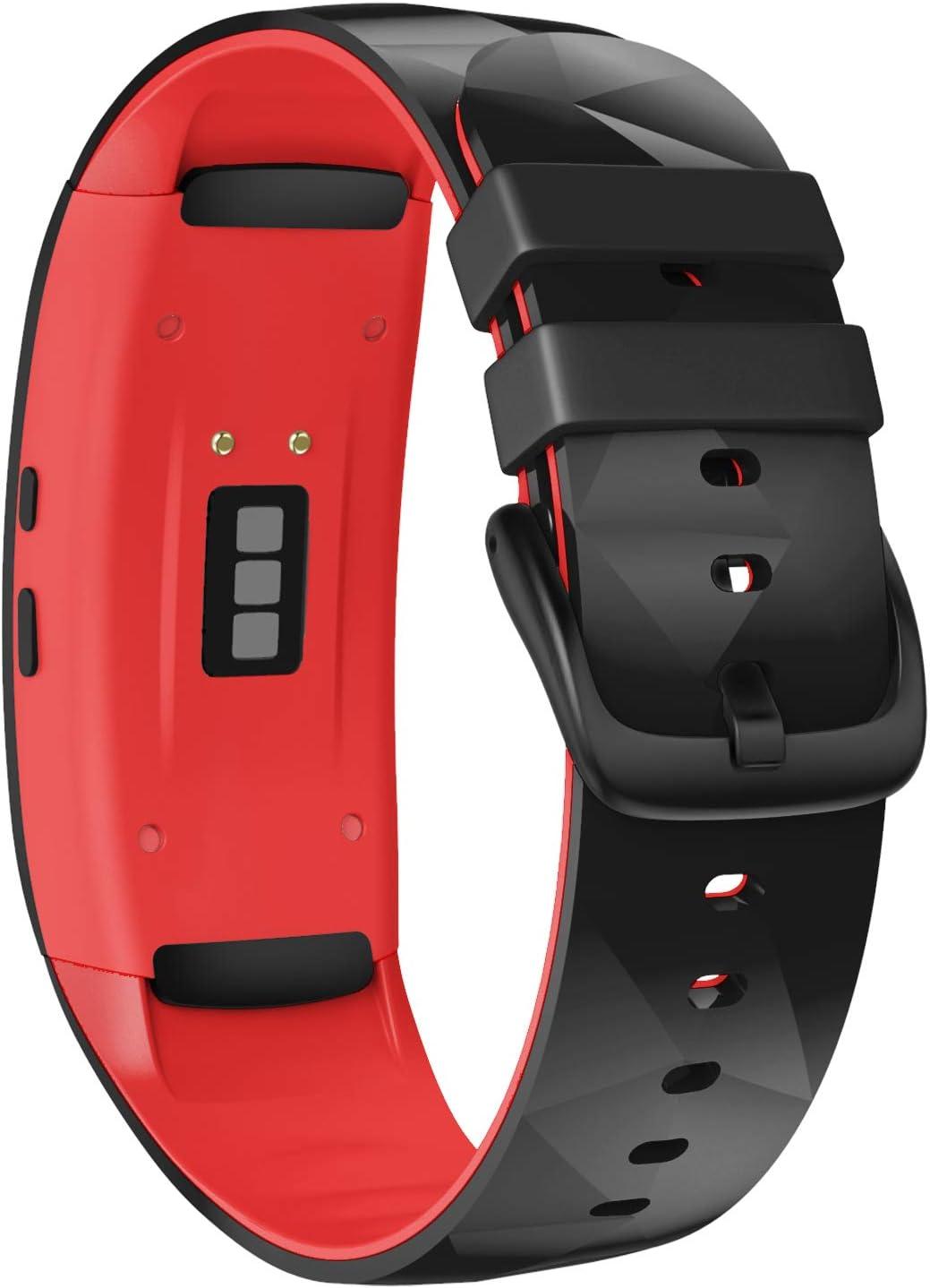 Malla para Samsung Gear Fit2 Pro Negra / Roja Large Notocity