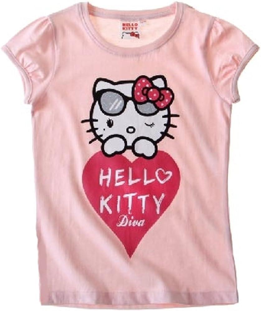 Camiseta de Hello Kitty. Rosa. 8-9 Años: Amazon.es: Ropa y accesorios