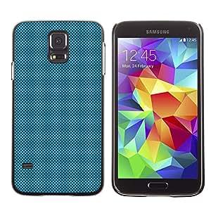 A-type Arte & diseño plástico duro Fundas Cover Cubre Hard Case Cover para Samsung Galaxy S5 (Light Blue Dots)