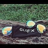 GloFX Aviator Style Kaleidoscope Glasses - Clear