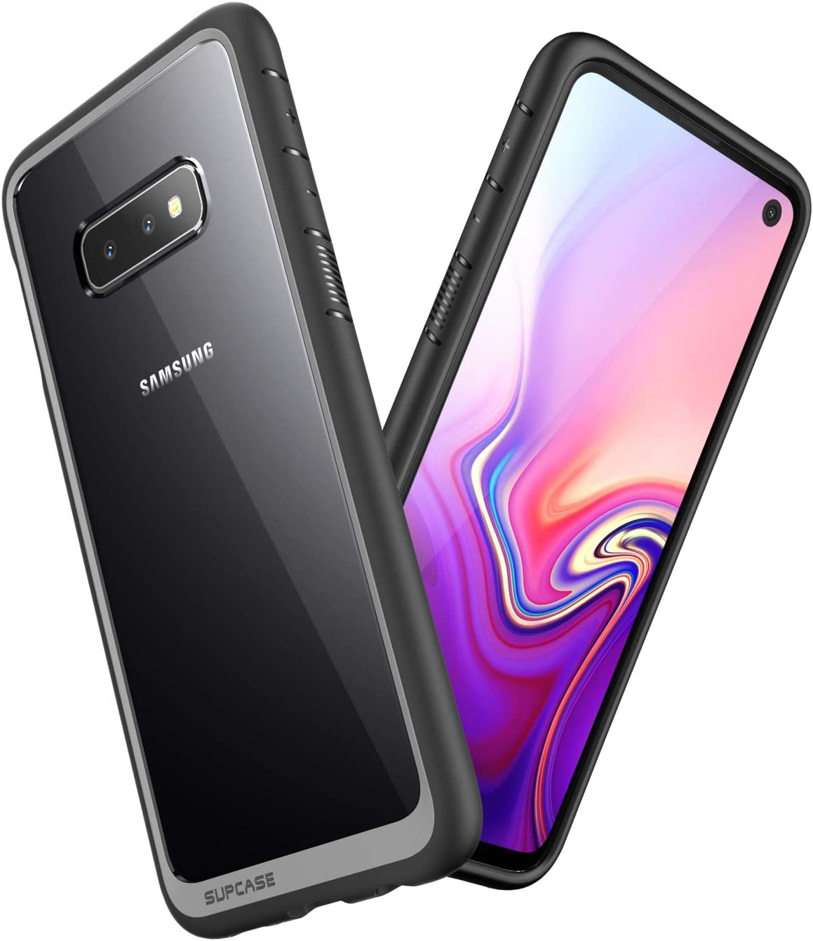SupCase Unicorn Beetle Style Series Designed for Samsung Galaxy S10e Case 2019 Release PC and TPU Premium Hybrid Protective Clear Slim Fit Case (Black)