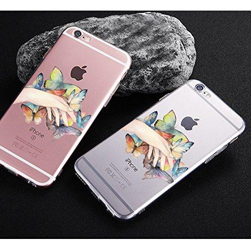 Fundas iPhone 6/6S,Vanki® Suave TPU Funda Parachoques Funda Absorción de Impactos y Anti-Arañazos Case Cover Carcasa Para iPhone 6/6S 1