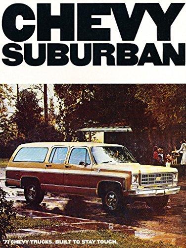 1977 Chevrolet Suburban Original Sales Brochure Catalog - Chevy Truck
