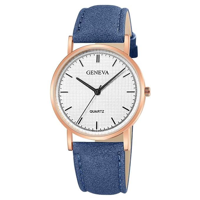 Darringls_Reloj Geneva,Relojes de Mujer Relojes Mujer Dorados Reloj de Cuarzo Faux cronógrafo Plateado con Cristales para Mujer Reloj clásico Redondo: ...