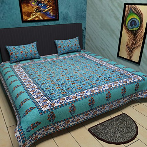 Traditional Floral Cotton Printed Bedsheet product image