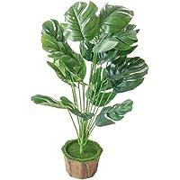 Cabilock Plantas artificiais em vaso com folhas de palmeira, plantas falsas em vaso, bonsai para decoração de casa…