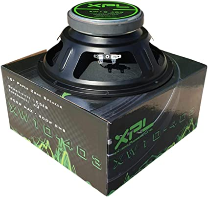 WOOFER NERO PYRAMID PW1048USX 25,00 CM 250 WATT RMS IMPEDENZA 8 OHM CASA DISCO