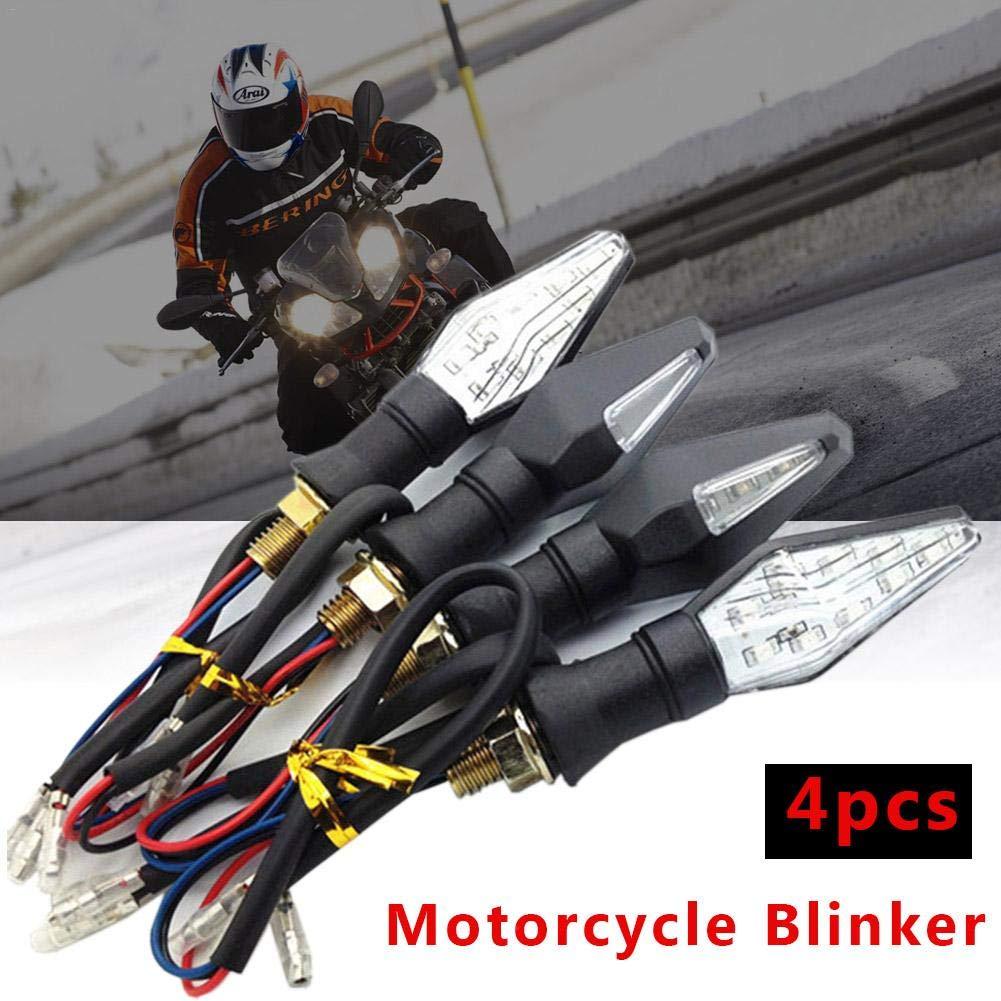 Voyant 12LED Bleu Clignotant Jaune 12V Universel pour Moto Moto Scooter Quad Cruiser Harley 4PCs Moto LED Clignotants