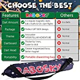 Rabosky Magnetic Dart Board for Kids, Dart Game Toy for 6 7 8 9 10 Year Old and up Boys, 12 Magnetic Darts & 6 Extra Flights, Interstellar Adventure Gameplay