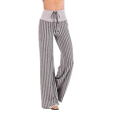 1023d199067c Pantalon Fluide Femme Imprimé Florale Ryures Pants Éléphant Yoga Doux  Casual Losse Pantalon Sarouel Aladin Jogging