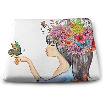 Sanghing Customized Elf Girl and Flowers 1.18 X 15 X 13.7 in Cushion, Suitable for Home Office Dining Chair Cushion, Indoor and Outdoor Cushion.: Home & Kitchen