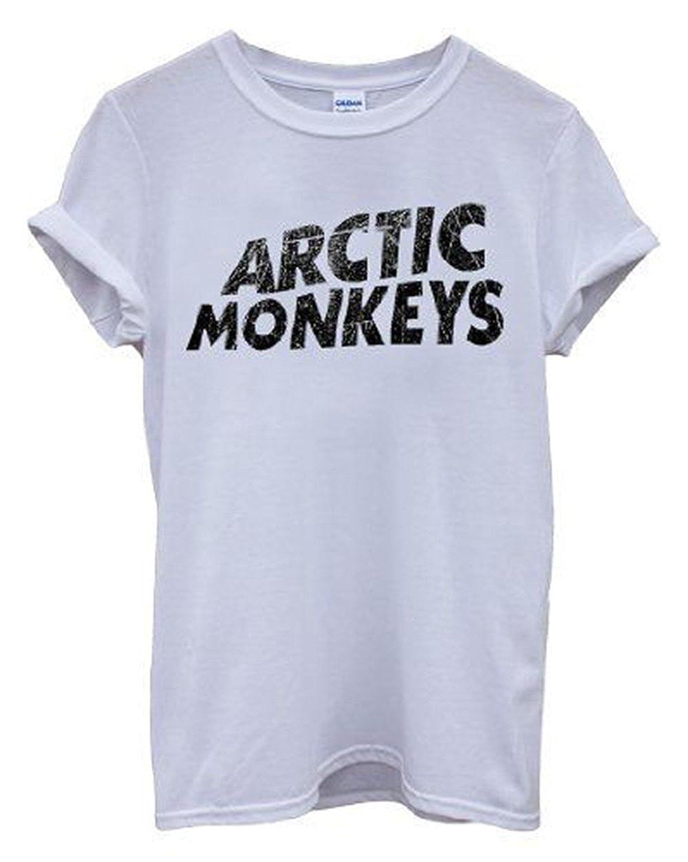 RETROZONES New Unisexe Arctic Monkey Top Alex Turner Logo Band T-Shirt
