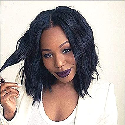 Pelucas cortas de pelo para mujeres negras, pelucas de cabello humano sin brazaletes, peluca