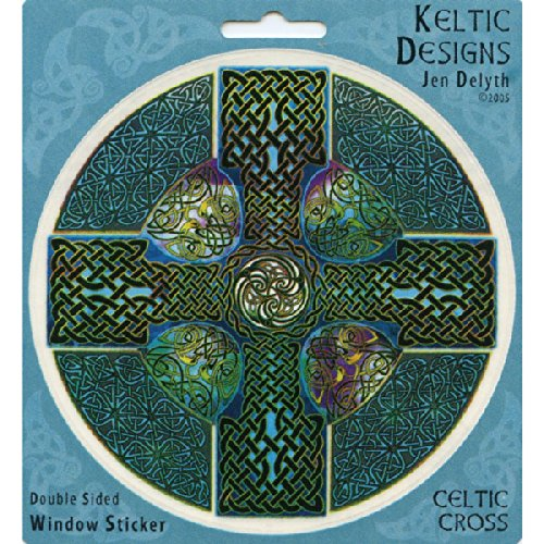 Celtic Cross Art Decal Window Sticker