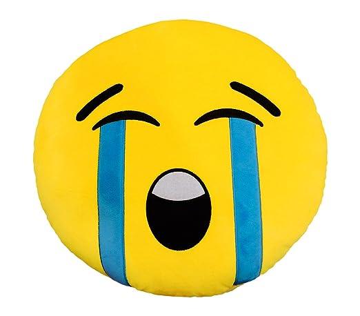 557317A Cojín emoticono almohada mod.Cara llorando 34 cm ...
