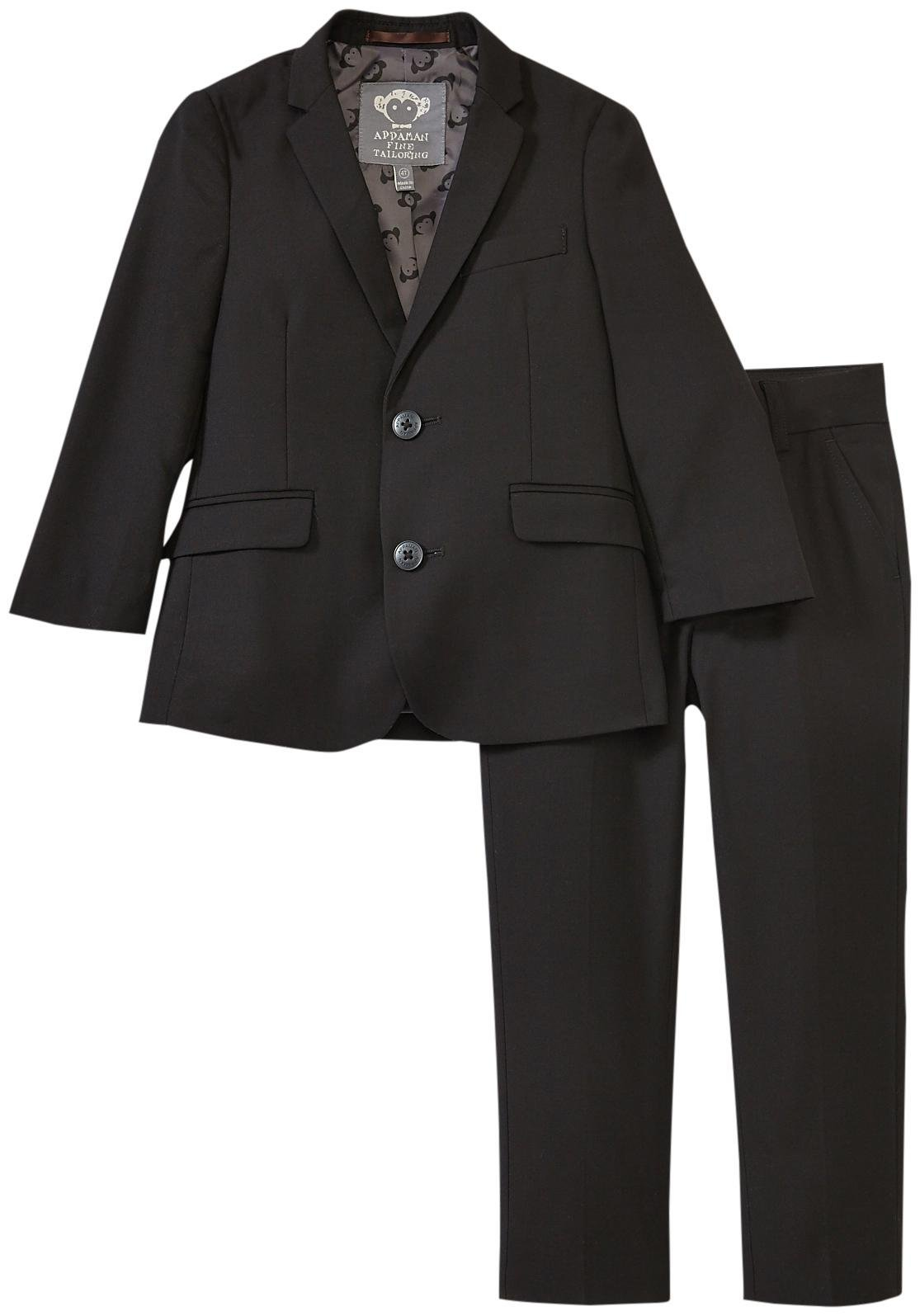 Appaman Little Boys' Two Piece Mod Suit, Black, 5