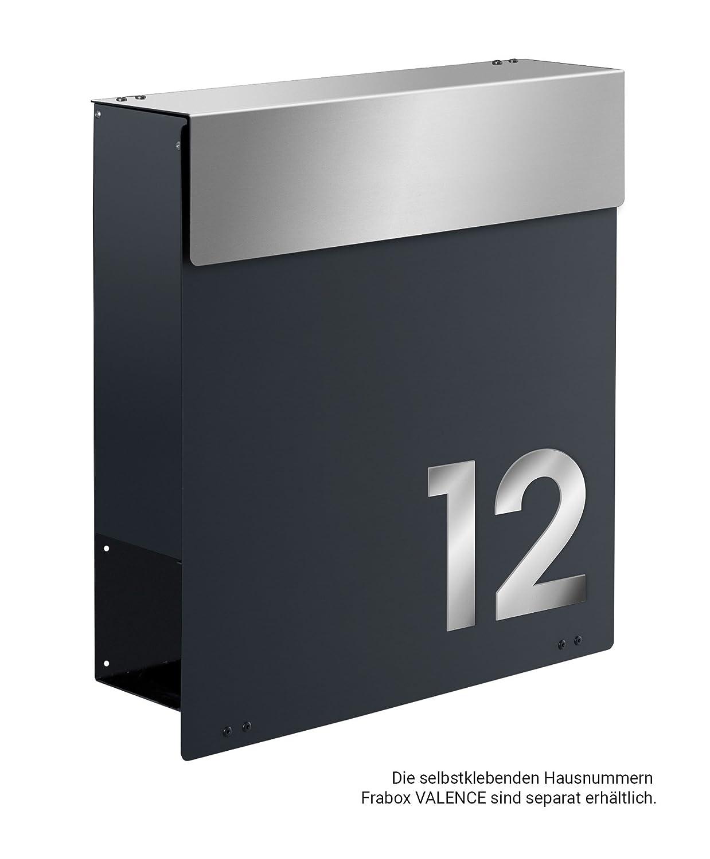 Briefkästen Design frabox design briefkasten namur anthrazitgrau edelstahl amazon de