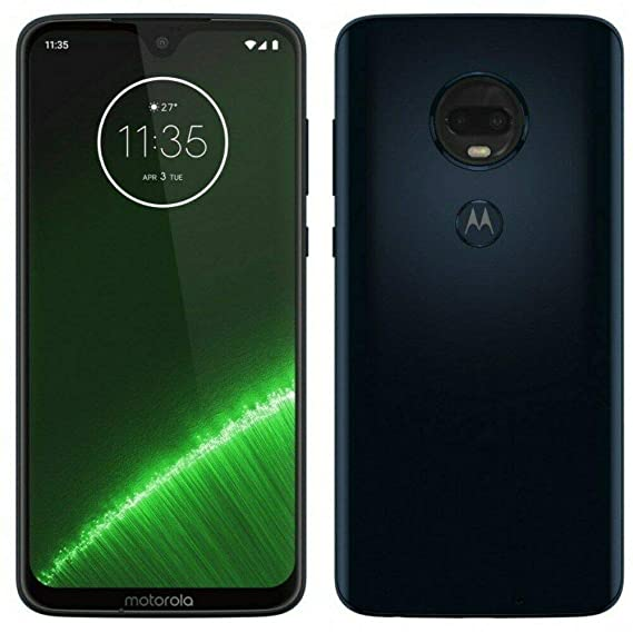 Motorola Moto G7+ Plus (64GB, 4GB RAM) Dual SIM 6 2 4G LTE (GSM Only)  Factory Unlocked Smartphone International Model-Deep indigo