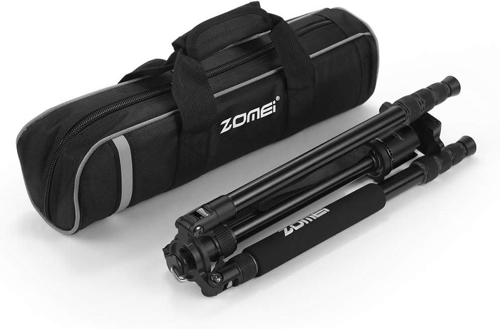 ZOMEi Travel Tripod 2-in-1 Aluminum Alloy Camera Tripod Portable Monopod for DSLR Canon Nikon Sony SLR Phone Video and DV Video Camcorder