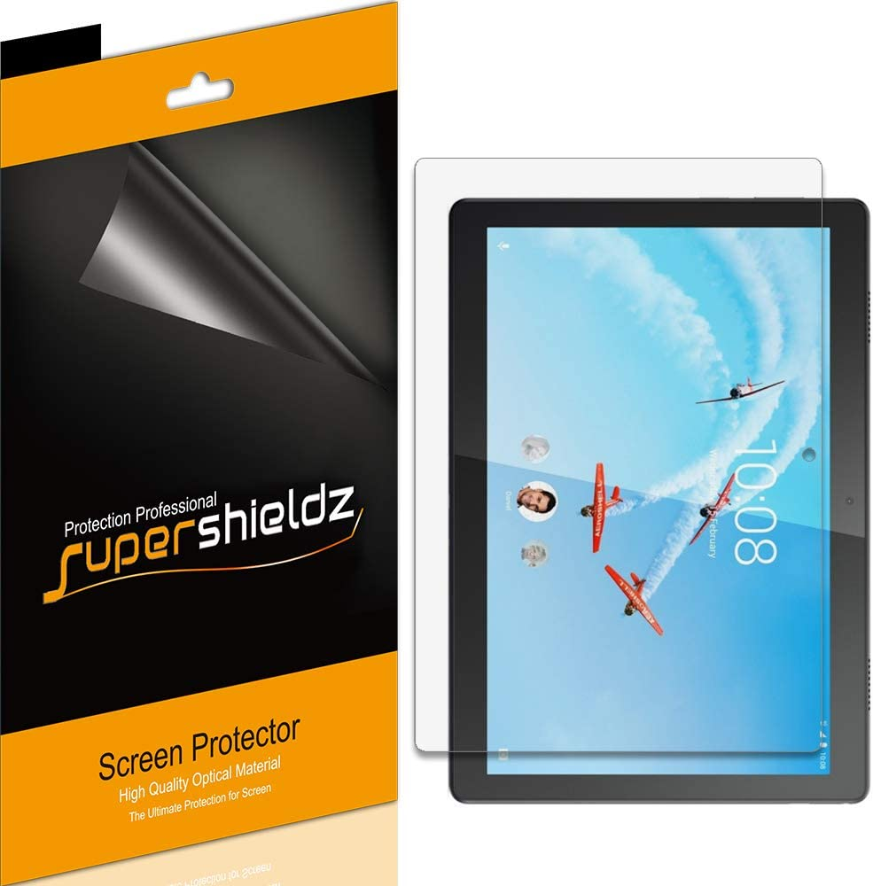 (3 Pack) Supershieldz for Lenovo Tab M10 / Smart Tab M10 (10.1 inch) Screen Protector, High Definition Clear Shield (PET)