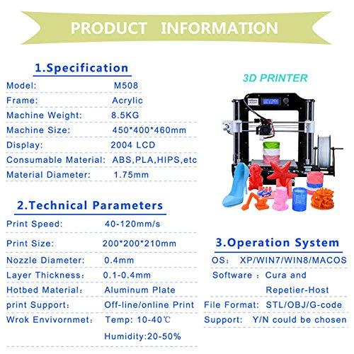 techprinn tecnología de impresión acrílico metal 3d impresora de ...