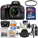 Nikon D5600 Wi-Fi Digital SLR Camera & 18-140mm VR DX AF-S Lens with 32GB Card + Case + Filter + Hood + Remote + Flash Diffusers + Kit