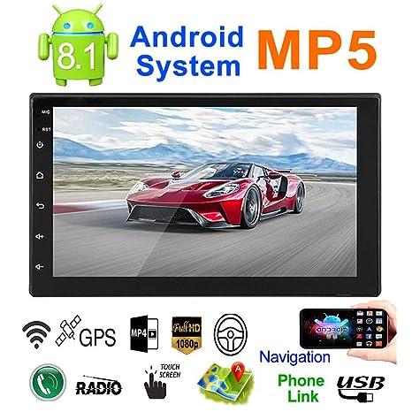 talogca Radio de Coche Autoradio Bluetooth, Android 8.1 Reproductor mp5 GPS 7 Pulgadas 2 DIN