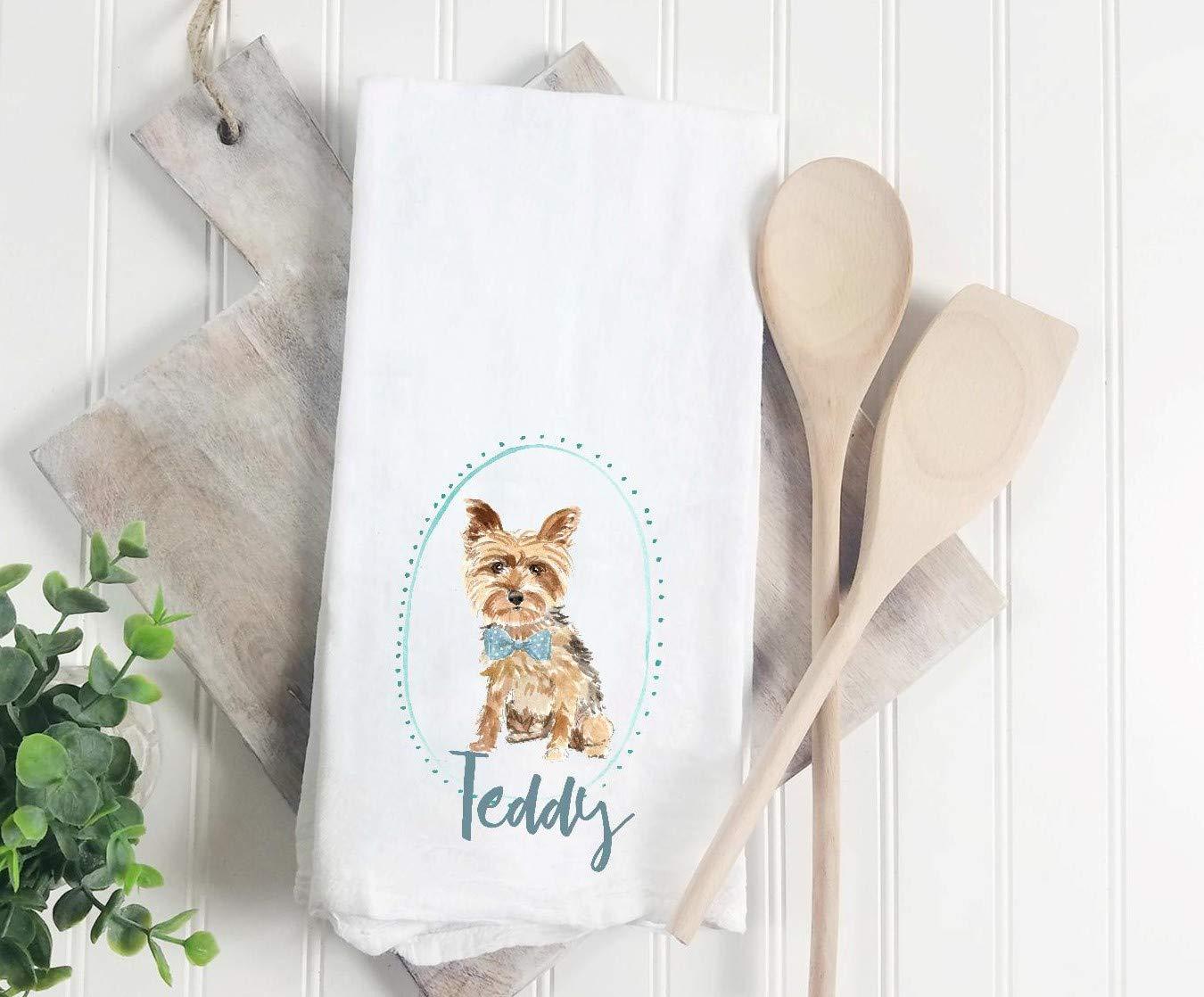 Kitchen//Tea Towel Yorkie