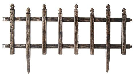Steccato Da Giardino In Pvc : Steccato oro antico in abs cm h recinzione aiuole pz