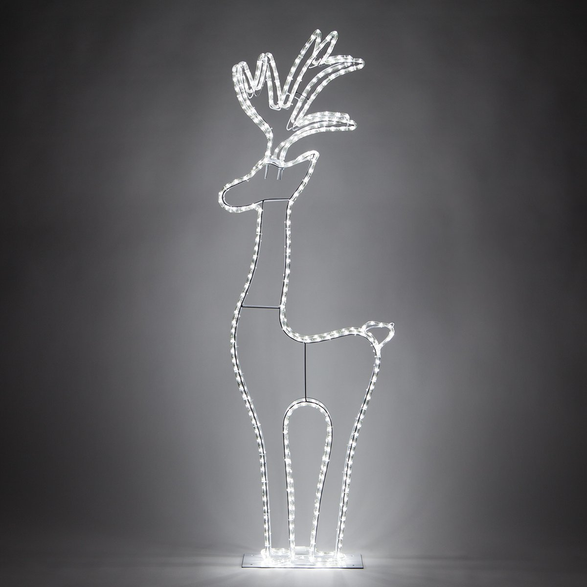 3D Cool White LED Christmas Reindeer Yard Decorations (4 Ft Tall, 324 Lights)