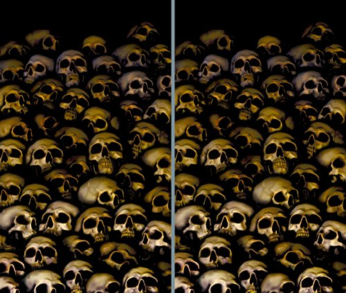 WOWindow Posters Catacombs Halloween Window Decoration includes two 34.5