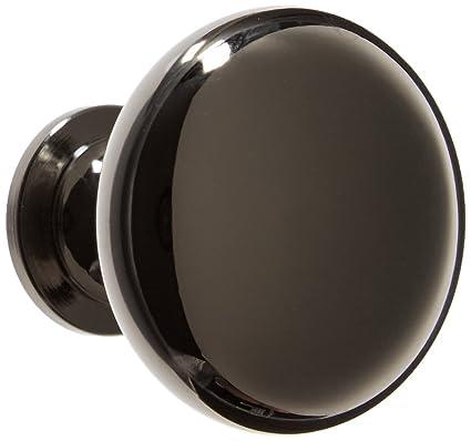 Charming Amerock Designer Import 1 1/4 Diameter Black Nickel Cabinet Hardware Knob    25