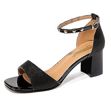 1d949895b55182 Amazon.com  KJJDE Women s Platform Wedge Sandals TC-926 Rivet Metal ...