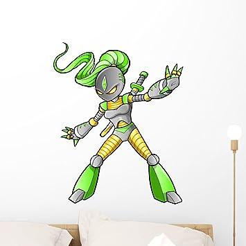 Amazon.com: Wallmonkeys Alien Ninja Warrior Vector Wall ...