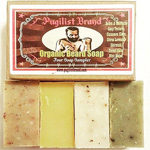 Organic Beard Soap Four Soap Sampler